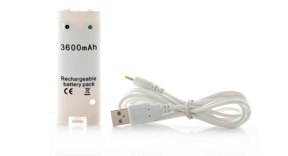 600mAh Rechargeable Battery for Wii Remote Controller (White)