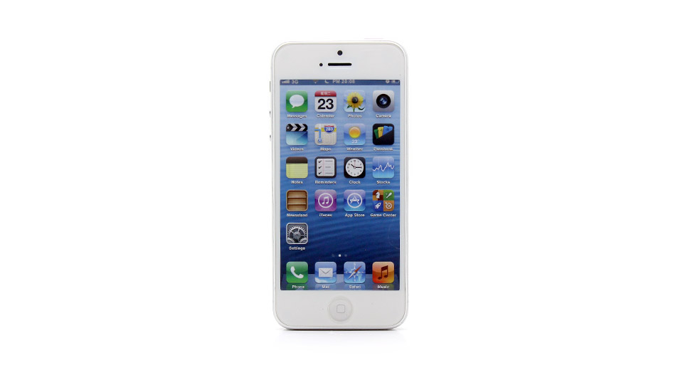 Image of Fake Non Working Display Dummy iPhone 5 Sample Model (White)