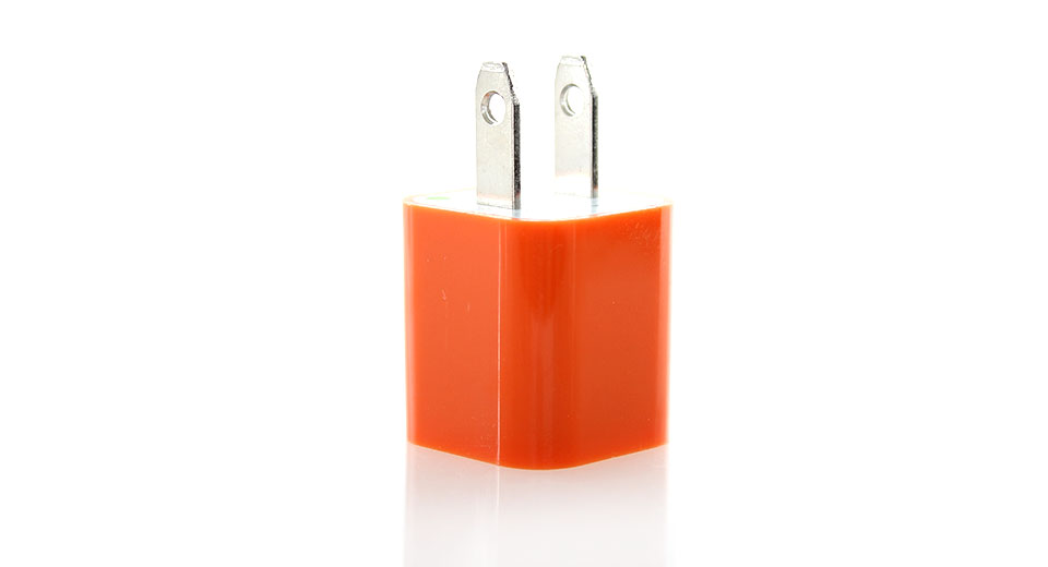 1000mA USB Power Adapter/Wall Charger (Orange)
