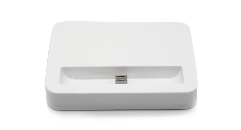 Product Image: 8-pin-data-charging-dock-for-iphone-5-white