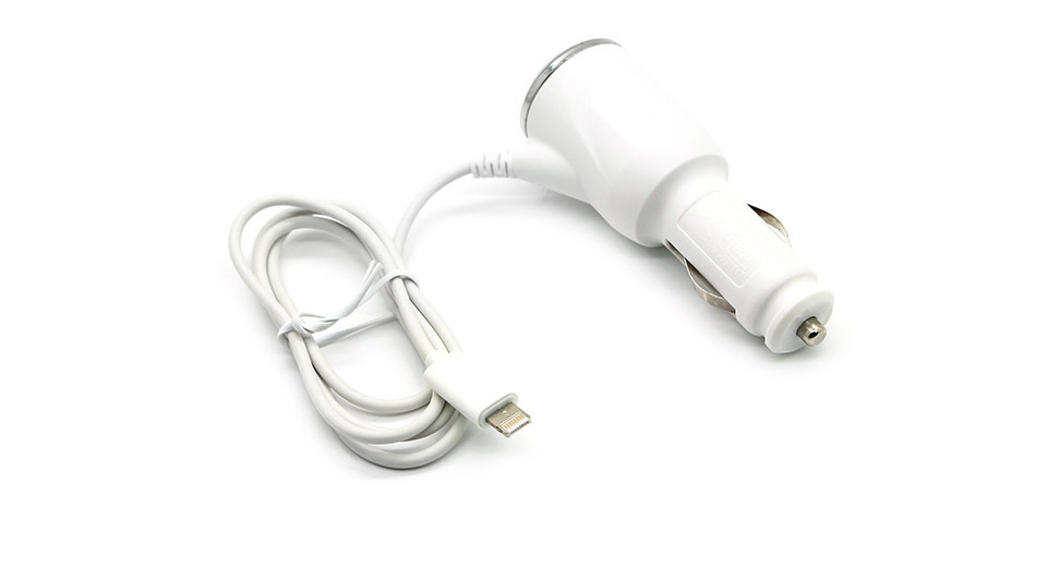 8-pin Car Charger Power Adapter for Apple iDevices