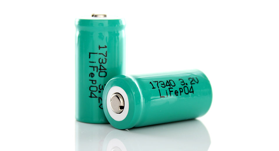 Image of 123A / 17340 3.2V 350mAh Rechargeable LiFePO4 Battery (2-Pack)