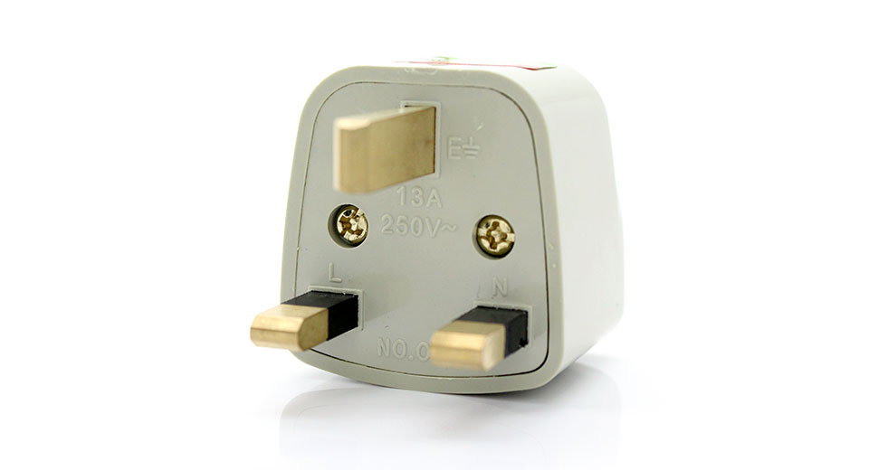 Universal UK Travel AC Power Adapter Plug