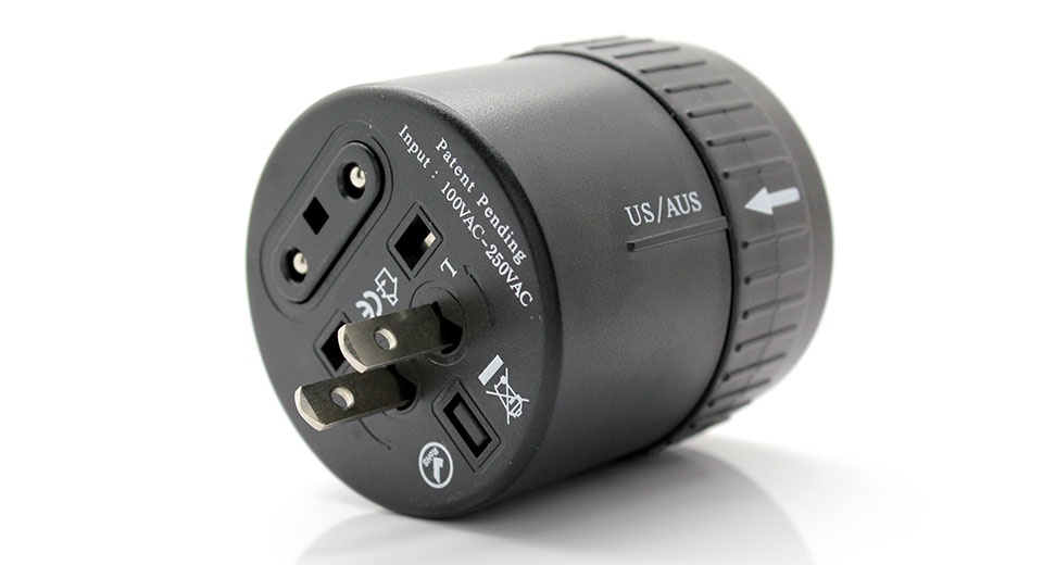 Universal Power Travel AC Adapter (Twist Out)