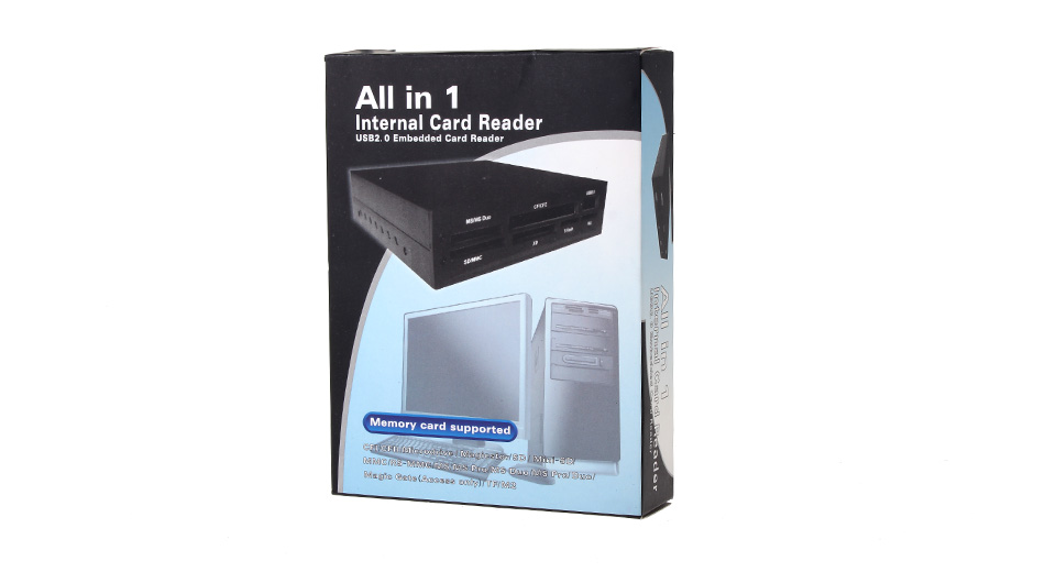 """Image of 3.5"""" Drive Bay All-in-One Flash Memory Card Reader w/USB Port (Silver)"""