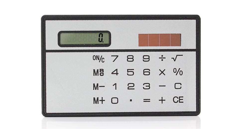 Image of Solar Powered Touch Sensitive Calculator (White)