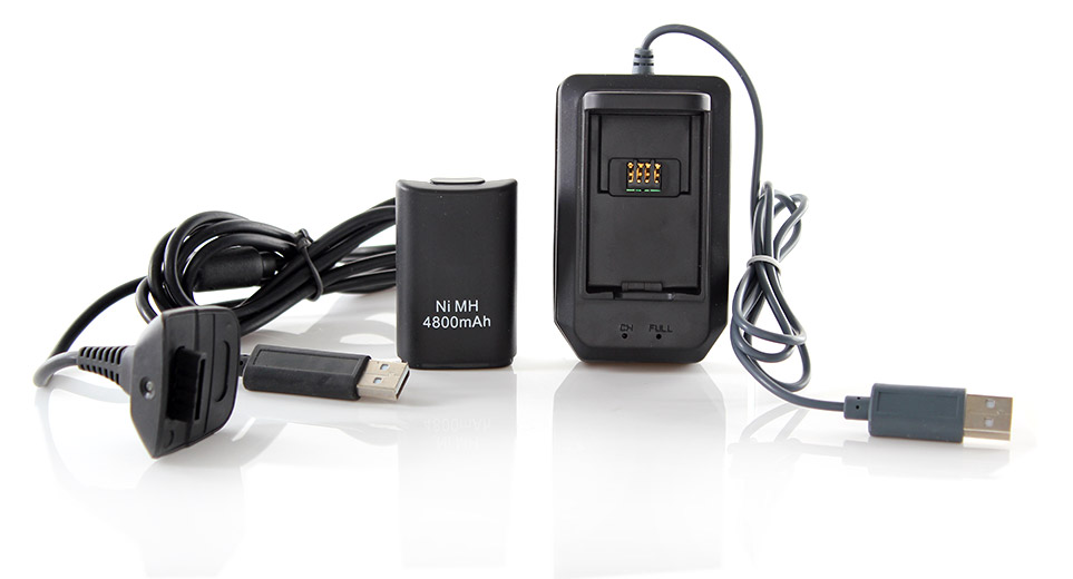 Image of 3-in-1 Charging Kit for Xbox 360 Wireless Controller