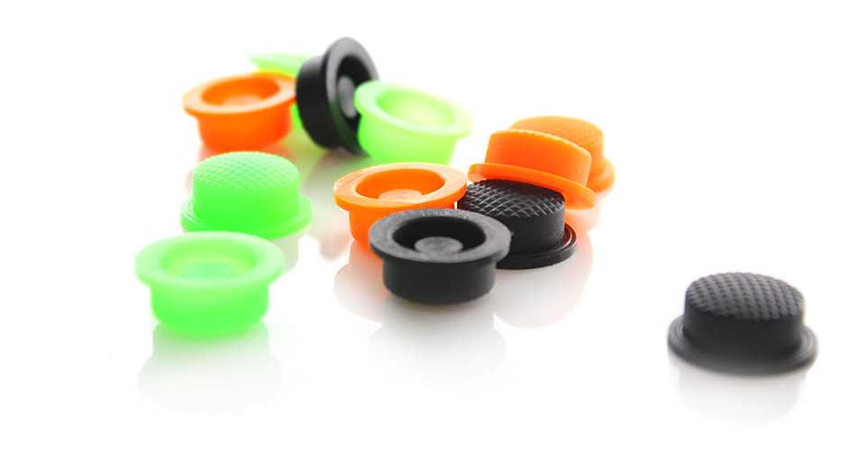 Image of Silicone Tailcaps for Flashlights (14mm 12-Pack)