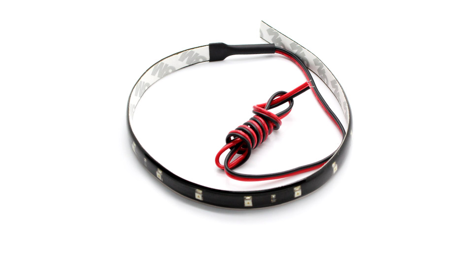 R10 Red LED Waterproof Ribbon Light Strip for Car & Home