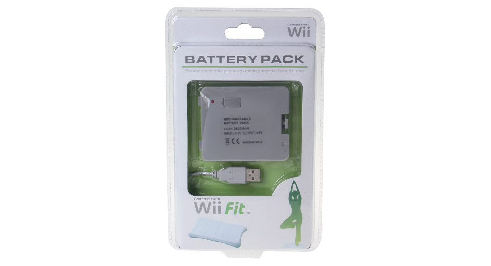 USB Rechargeable 3800mAh Battery Pack for Wii Fit Balance Board