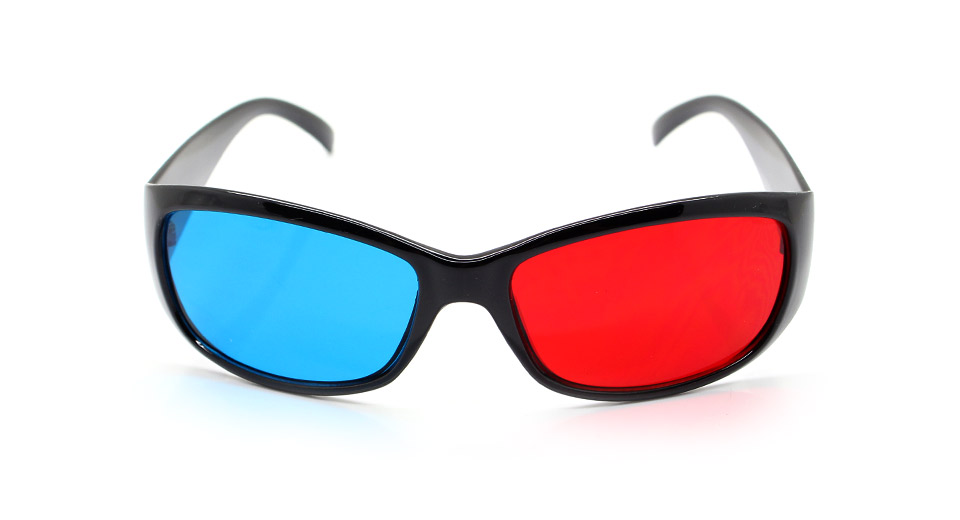Resin Lens Anaglyphic Red + Cyan 3D Glasses