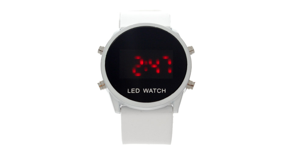 Fashion Silicone Band Red LED Wrist Watch