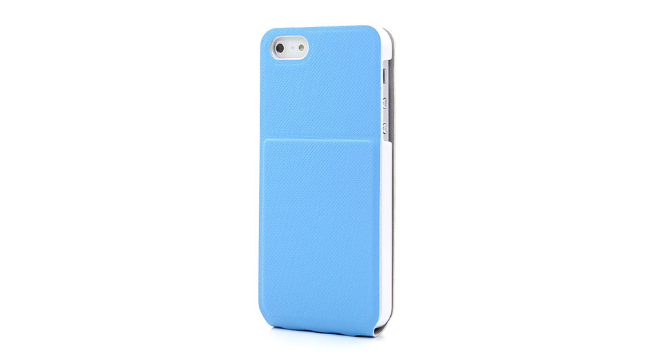 Flip-Open Protective PU Leather Case for iPhone 5
