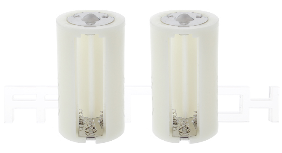 2*AA to D-size Battery Converters (2-Pack)