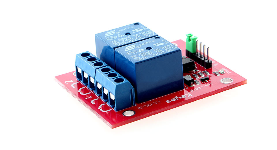 AC/DC 2-Channel Relay Module