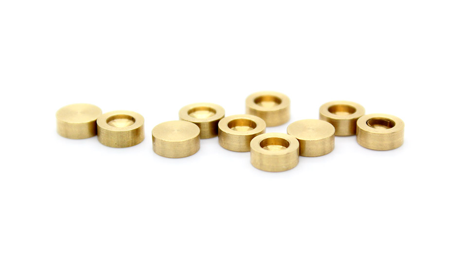Image of 5mm*2mm Brass Pillars for Electronics DIY (10-Pack)