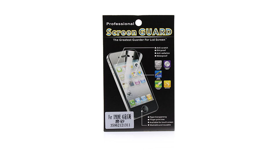 Matte Front + Black Screen Protector Set for iPhone 4/4S