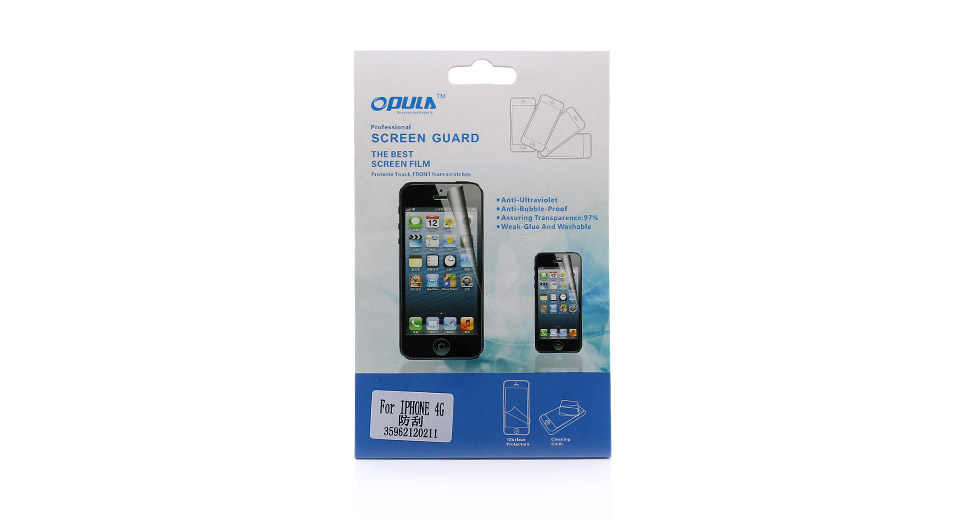 Scratch-resistant Crystal Clear Screen Protector for iPhone 4/4S