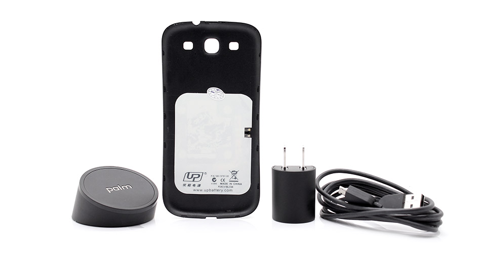Inductive Charging Back-plate + Palm Touchstone Wireless Charger for Samsung Galaxy S3
