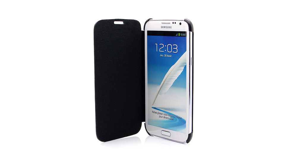 Protective Flip-Open PU Leather Case for Samsung Galaxy Note II