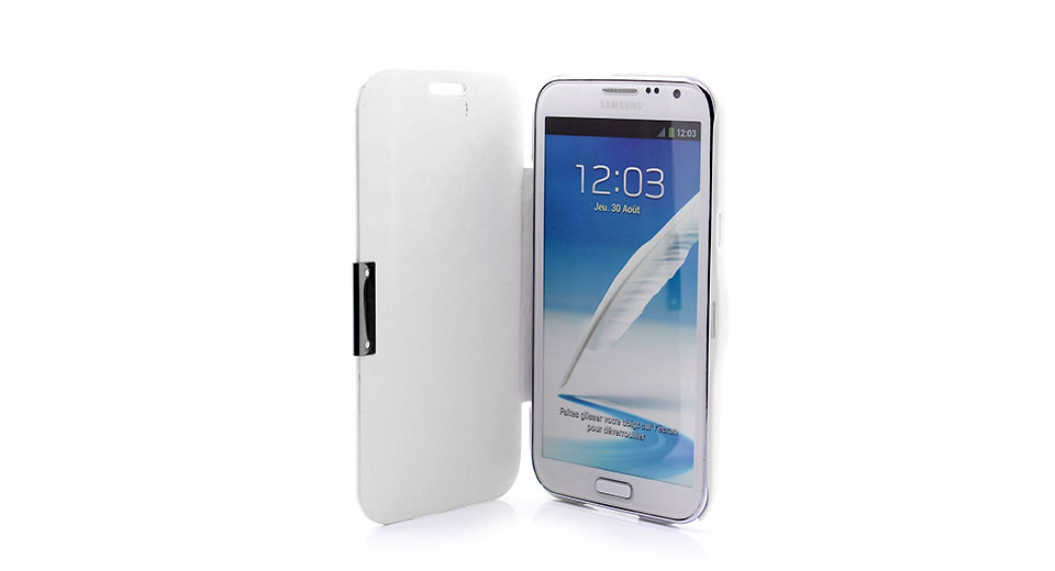 Protective PU Leather Flip-Open Case for Samsung Galaxy Note II
