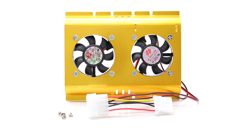 Dual Cooling Fan for 3.5 HDD Hard Disk Drive