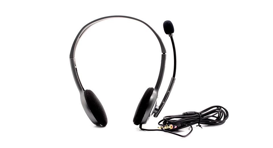 11 81 genuine logitech h110 stereo headset with