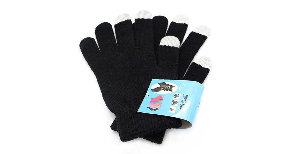 Image of 3-Finger Capacitive Screen Touching Hand Warmer Gloves