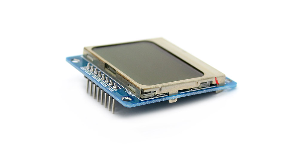 """arduino compatible 1.6"""" nokia 5110 lcd module with blue"""