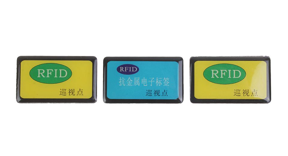 Rewritable Programmable NXP Mifare NFC Tag Plate Tag: Self-adhesive Magnet Insensitive