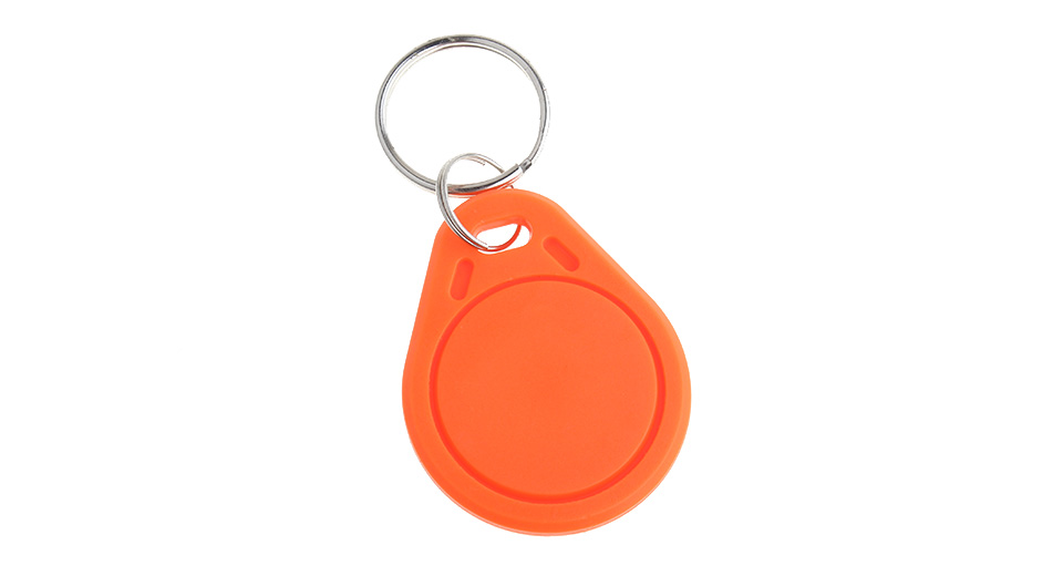 Rewritable Programmable NXP Mifare NFC Tag Keychain Tag: (HID-Style Red)