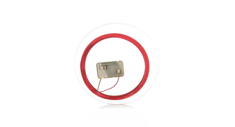 Rewritable Programmable NXP Mifare NFC Tag (Transparent Plate)