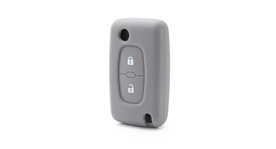 Protective Silicone Case for Peugeot 2-Button Remote Key Fob