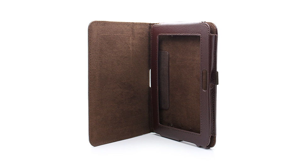 Lychee Pattern Protective PU Leather Case with Stand for Kindle Fire HD
