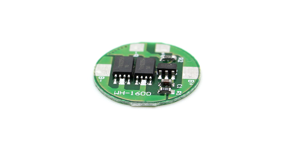 WH-1600 4A Protective Circuit Board for 16650 Rechargeable Li-Ion Batteries (2-Pack)