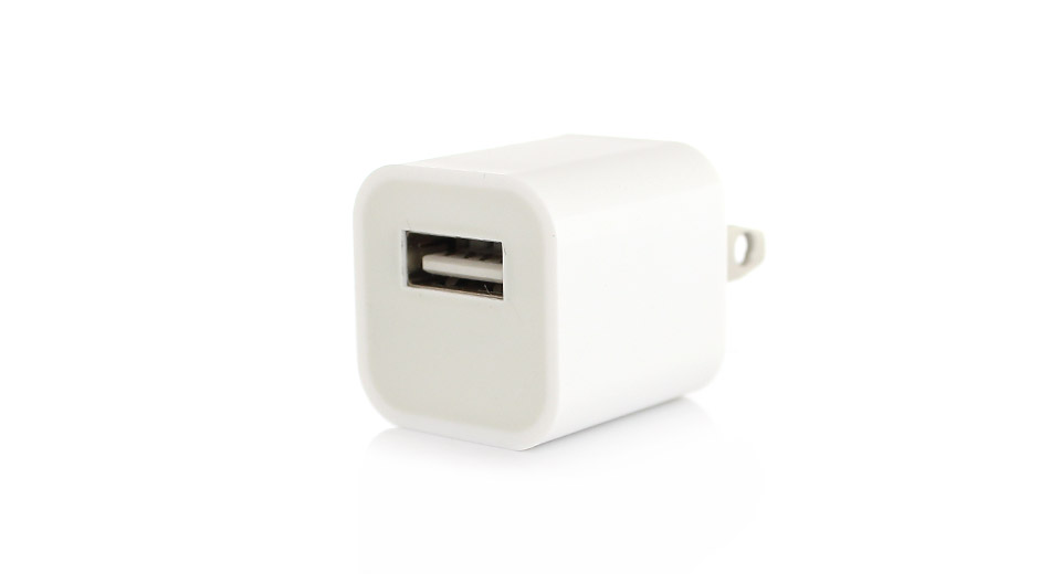 Image of 1A AC USB Power Adapter/Charger for Apple iDevices