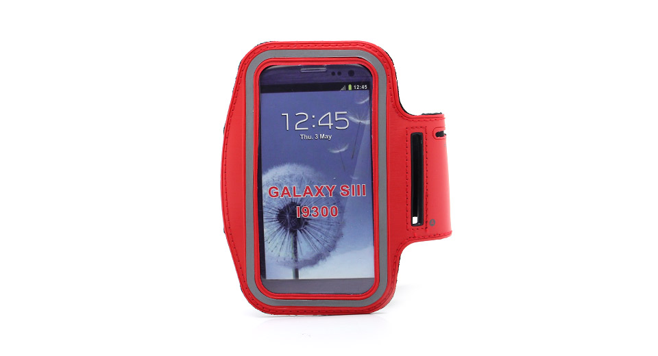 Outdoor Sports Protective PU + Nylon Armband for Samsung Galaxy S3