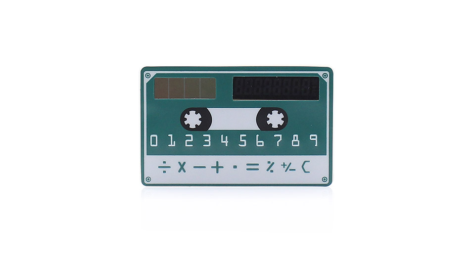 Image of Solar Powered 8-Digit Ultra-Thin Pocket Card Calculator