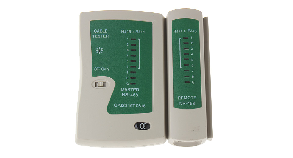 RJ45/BNC Network and Coaxial Cable Tester (1*9V)