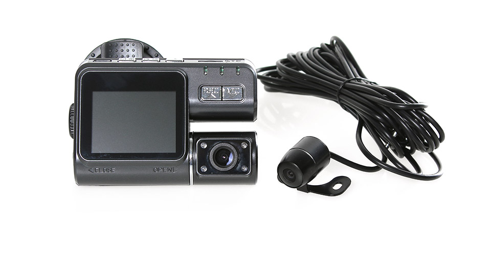 "X6 2.0"" LCD 8.0MP CMOS HD Wide Angle Car DVR Camcorder w/ Rearview Camera / TF / AV-Out"