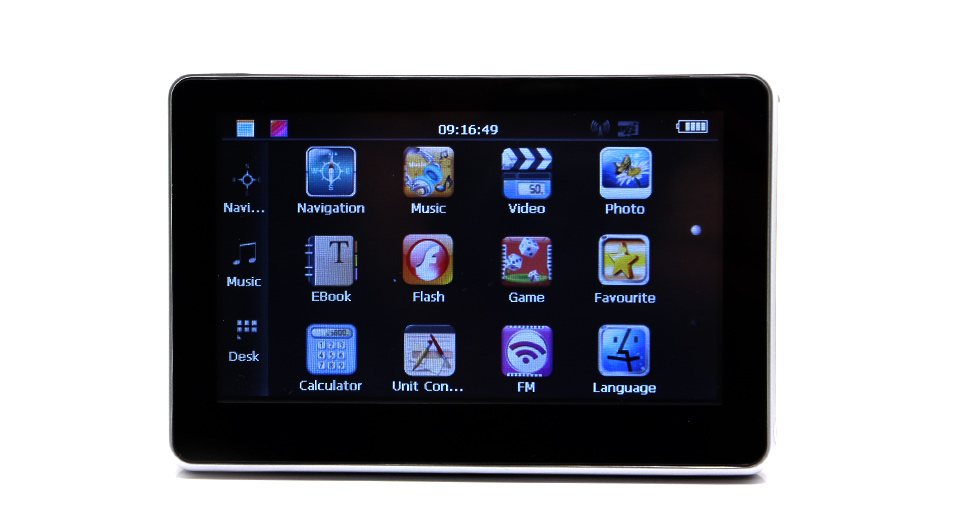 4.3 LCD Touch Screen Windows CE NET 6.0 GPS Navigator with Europe Map