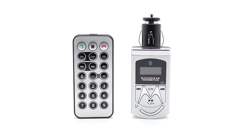 """Image of 0.8"""" LCD Moto MP3 Player FM Transmitter with Caller ID Handsfree"""