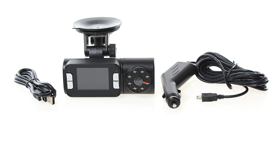 5MP Wide Angle Car DVR Camcorder w/ 8-IR LED Night Vision/TF (2 TFT LCD)
