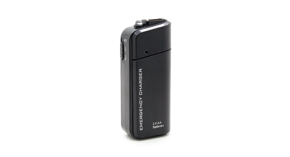 2*AA Battery Powered USB Emergency Charger with Flashlight