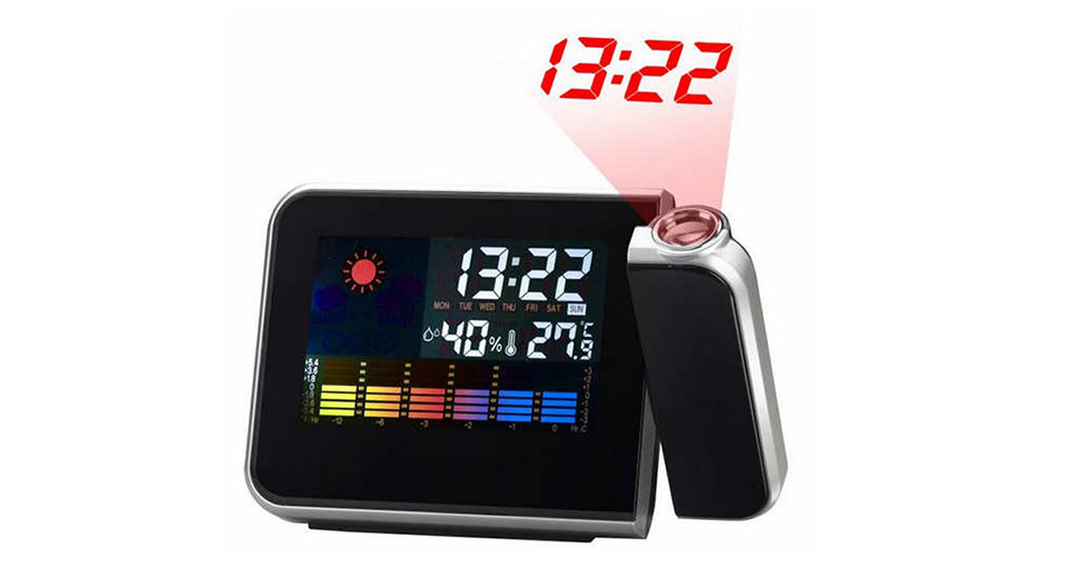 "Image of 3.6"" LCD Color Screen Weather Station Projection Clock"