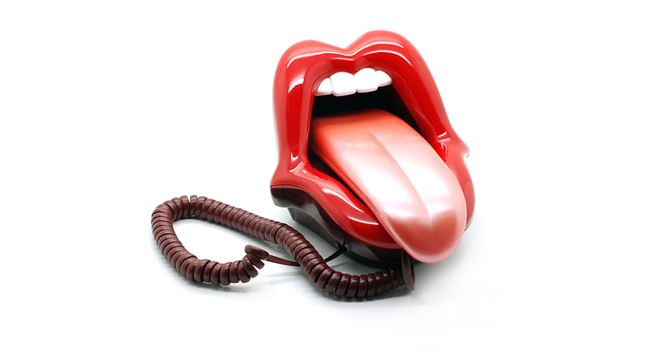 Creative Big Mouth Shape Land Line Telephone
