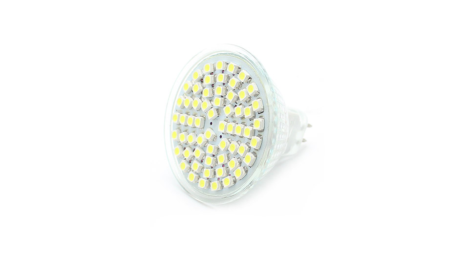 MR16 6500K 3W 220-Lumen 60-SMD LED White Light Bulb, 12V 3W, 60*SMD, 220LM, 5800-6500K