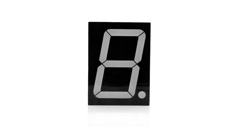 GEM40101BE 4.0 10-Pin 1-Digit Common Anode Numeric LED Display