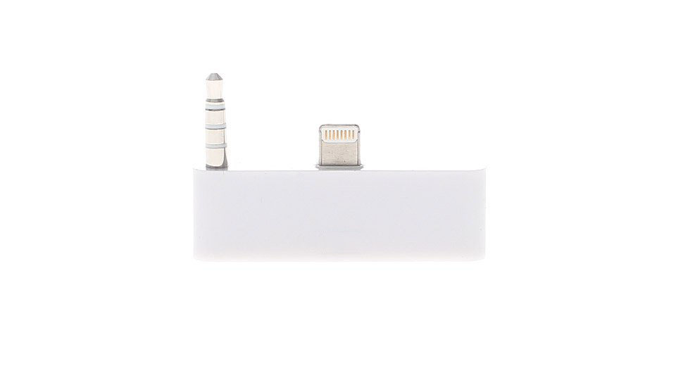 8-pin to 30-Pin Data/Charger/Audio Adapter for iPhone 5 / iPod Touch 5 (White)