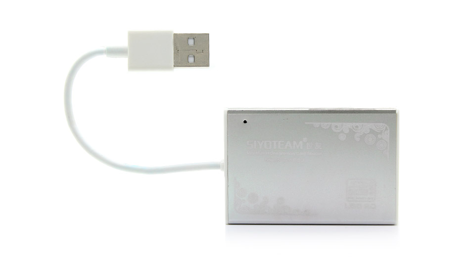 Ultra-Thin All Aluminum Card Reader for SDHC MiniSDHC